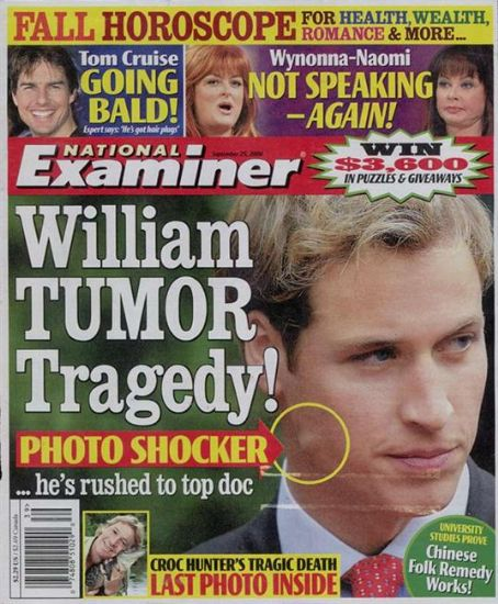 Prince William Windsor - National Examiner Magazine [United States] (25 September 2006)