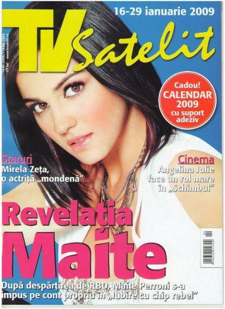 Maite Perroni - TV Satelit Magazine Cover [Romania] (16 January 2009)
