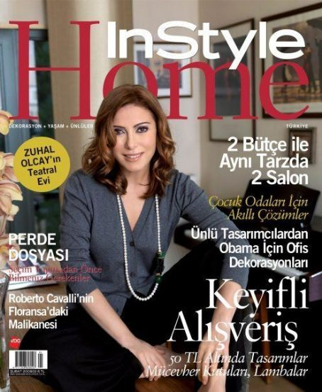 Zuhal Olcay - InStyle Home Magazine Cover [Turkey] (February 2009)