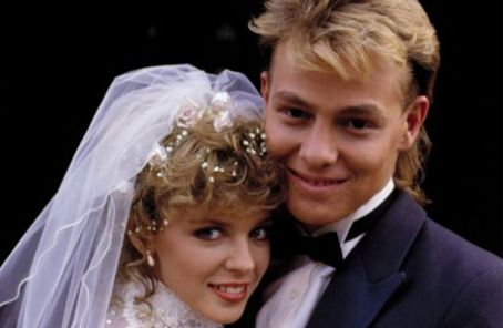 Neighbours Kylie Minogue and Jason Donovan