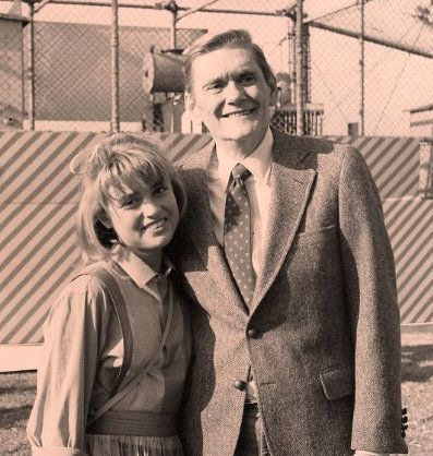 Dick York on the set of 1984 High School U.S.A.
