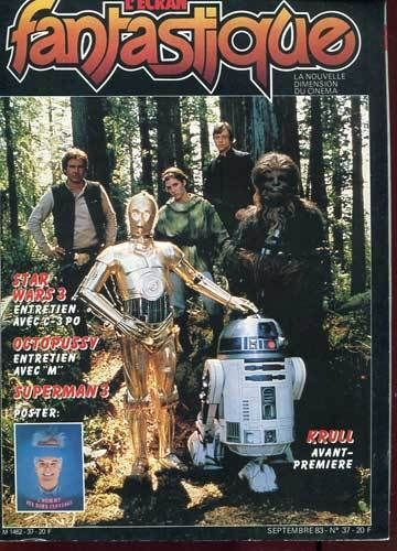 Star Wars - L'ecran Fantastique Magazine Cover [France] (September 1983)