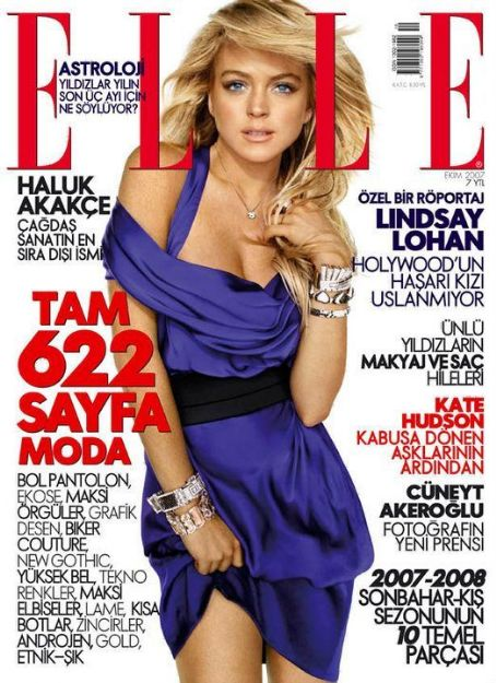 Lindsay Lohan - Elle Magazine Cover [Turkey] (October 2007)