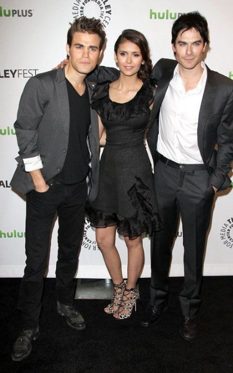 "Nina Dobrev and Paul Wesley - Joining together to promote their hit show, the stars of ""The Vampire Diaries"" took over the spotlight at PaleyFest 2012 in Beverly Hills, California on Saturday (March 10)"