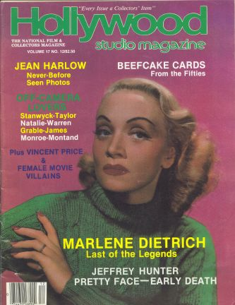 Marlene Dietrich - Hollywood Studio Magazine [United States] (December 1984)