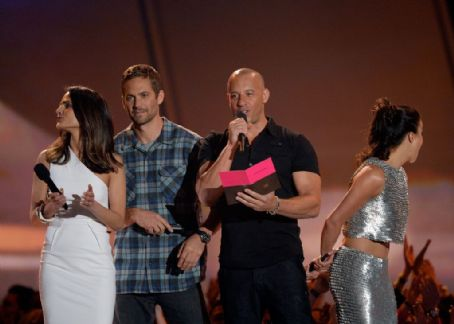 Paul Walker and Jordana Brewster 2013 MTV Movie Awards Show