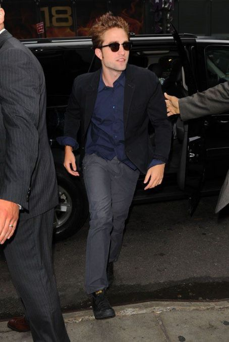 "Robert Pattinson making an appearance on ""Good Morning America"" (August 15)"