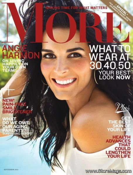 Angie Harmon - More Magazine Cover [United States] (September 2013)