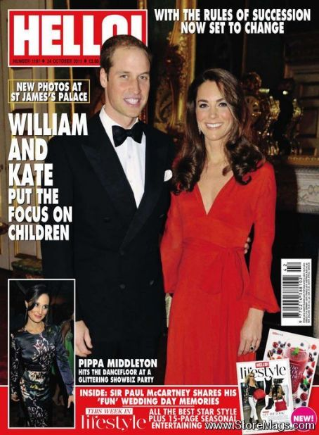 , Kate Middleton - Hello! Magazine Cover [United Kingdom] (24 October 2011)