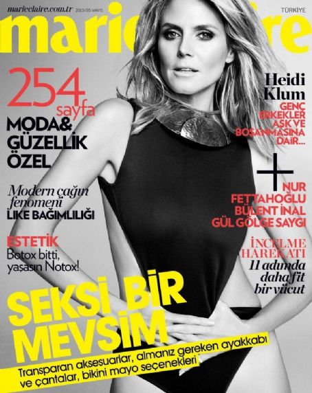 Heidi Klum - Marie Claire Magazine Cover [Turkey] (May 2013)