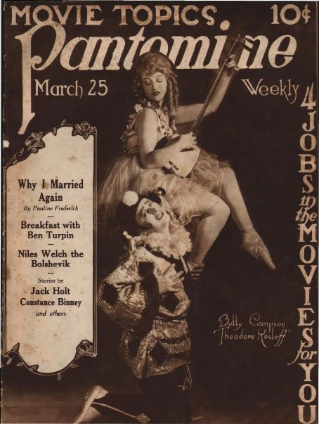 Theodore Kosloff - Pantomime Magazine [United States] (25 March 1922)