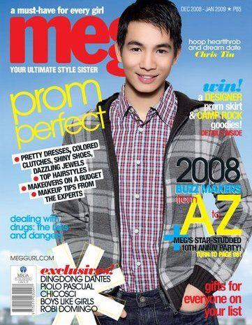 Chris Tiu - Meg Magazine Cover [Philippines] (December 2008)