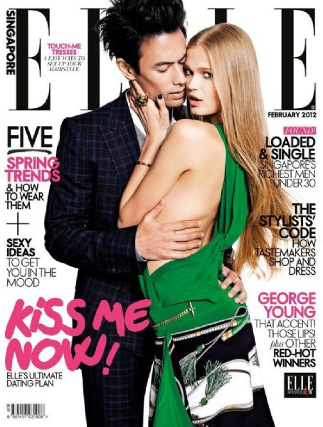 Elle Magazine Cover [Singapore] (February 2012)