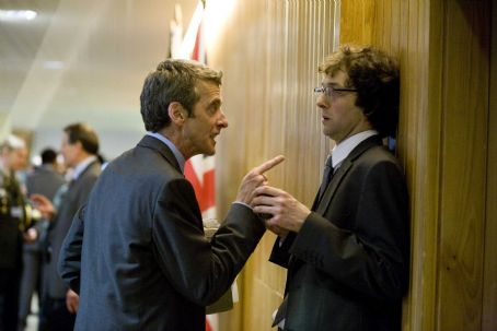 Peter Capaldi  as Malcolm and Chris Addison as Toby in IN THE LOOP, directed by Armando Iannucci. Photo Credit: Nicola Dove. An IFC Films release