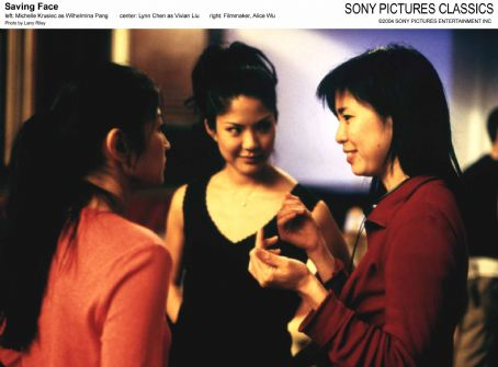 Lynn Chen Left: Michelle Krusiec as Wilhelmina Pang; Center:  as Vivian Liu; Right: Filmmaker, Alice Wu; Photo by: Larry Riley.