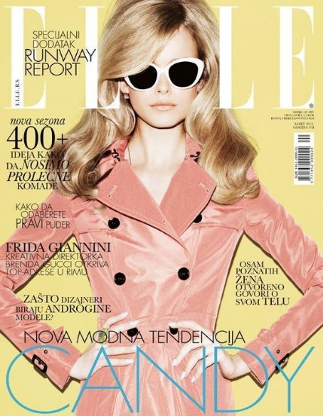 Karo Mrozkova - Elle Magazine Cover [Serbia] (March 2012)