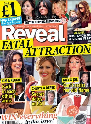 Kim Kardashian, Cheryl Cole - Reveal Magazine Cover [United Kingdom] (2 March 2012)
