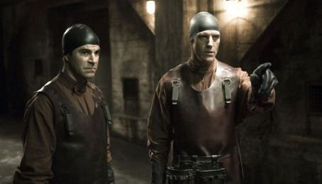 Richard Burgi Roger Bart as Stuart and  as Todd in Eli Roth horror movie 'Hostel: Part II.'