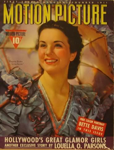 Deanna Durbin - Motion Picture Magazine [United States] (October 1940)