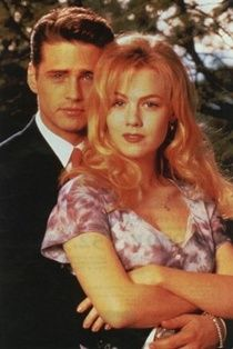 Brandon Walsh Jennie Garth as Kelly Taylor and Jason Priestley as  in Beverly Hills 90210.