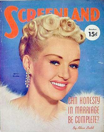 Betty Grable - Screenland Magazine [United States] (October 1951)