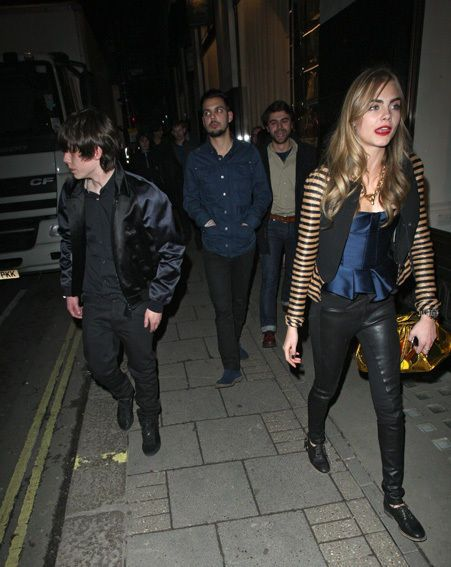 Jake Bugg Cara Delevingne and , December 2012