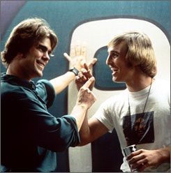 Dazed and Confused Sasha Jenson And Matthew Mcconaughey In Dazed And Confused (1992).