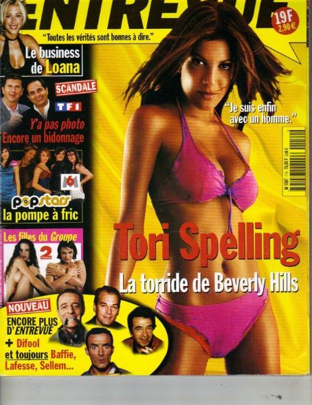 Tori Spelling - Entrevue Magazine Cover [France] (September 2002)