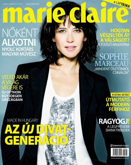 Sophie Marceau - Marie Claire Magazine [Hungary] (March 2009)