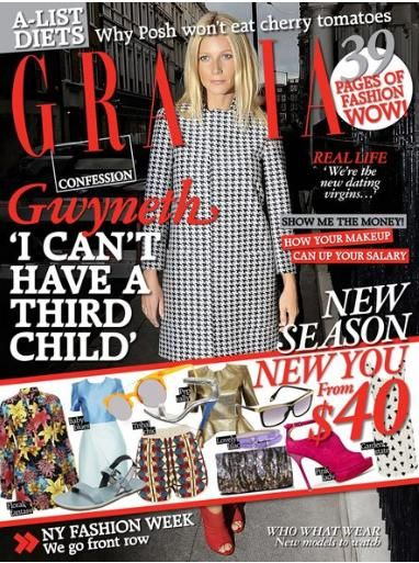 Gwyneth Paltrow - Grazia Magazine Cover [Australia] (20 February 2012)
