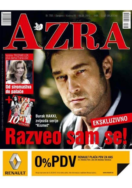 Burak Hakki - Azra Magazine Cover [Bosnia and Herzegovina] (9 May 2012
