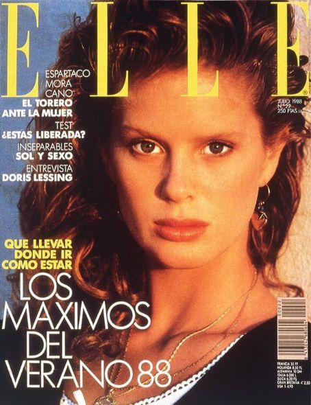 Rachel Hunter - Elle Magazine Cover [Spain] (July 1988)