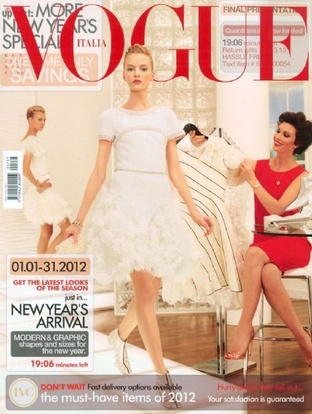 Daria Strokous, Caroline Trentini - Vogue Magazine Cover [Italy] (January 2012)