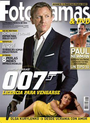 Fotogramas Magazine Cover [Spain] (November 2008)