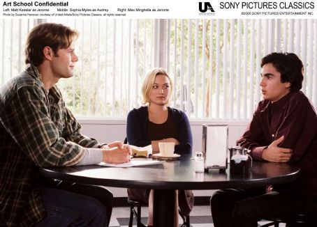 Matt Keeslar Left:  as Jonah; Middle: Sophia Myles as Audrey; Right: Max Minghellas as Jerome. Photo by Suzanne Hanover, courtesy of United Artist/Sony Pictures Classics, all rights reserved