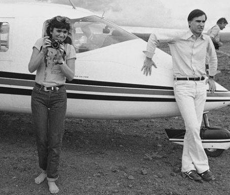 Linda Ronstadt and Jerry Brown