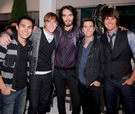 Logan Henderson Russell Brand and Big Time Rush
