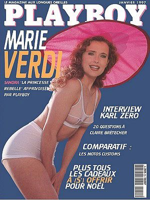 Maria Verdi - Playboy Magazine Cover [France] (January 1997)