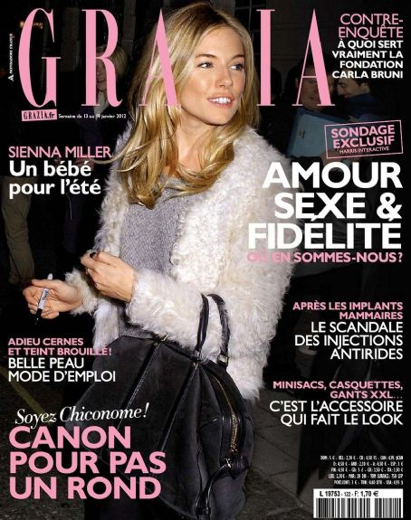 Sienna Miller - Grazia Magazine Cover [France] (19 January 2012)