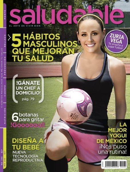 Zuria Vega - Saludable Magazine Cover [Mexico] (June 2010)