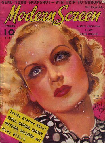 Carole Lombard - Modern Screen Magazine [United States] (September 1936)