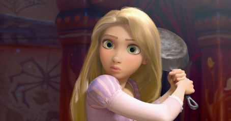 Rapunzel  (voiced by Mandy Moore) stars in animation family Walt Disney Pictures' Tangled.