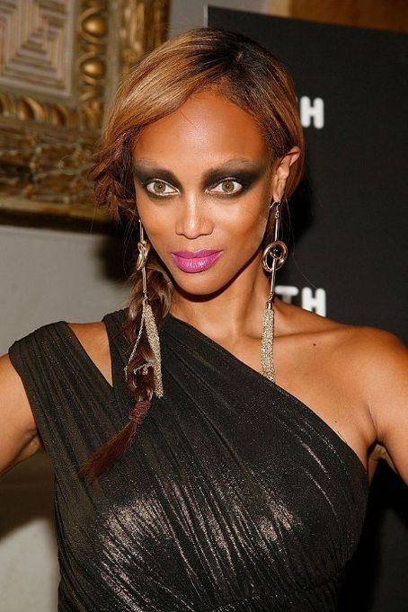 Tyra Banks - Raccoon look