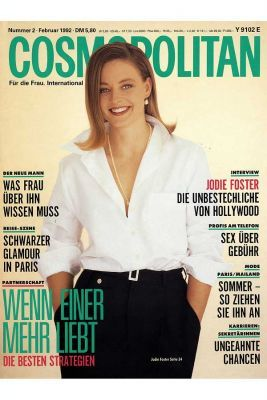 Jodie Foster - Cosmopolitan Magazine [Germany] (February 1992)
