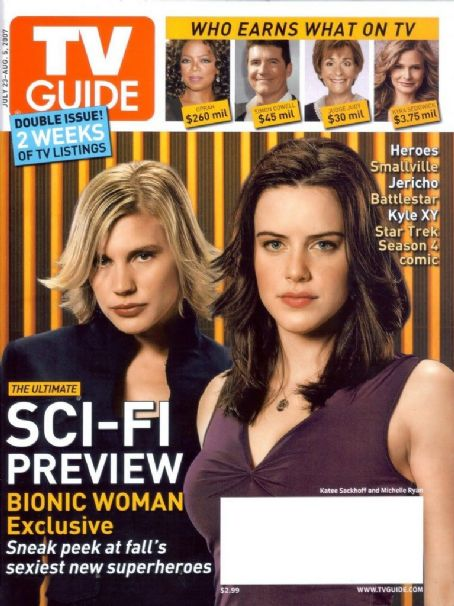 Michelle Ryan, Katee Sackhoff - TV Guide Magazine Cover [United States] (23 July 2007)