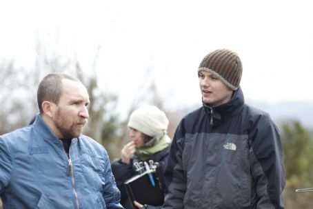 Eddie Marsan  and Director J Blakeson on the set of The Disappearance of Alice Creed.