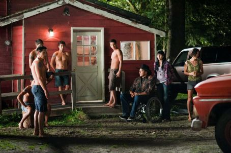 Tinsel Korey - (L to R) ALEX MERAZ, BOOBOO STEWART (seated), KIOWA GORDON, TYSON HOUSEMAN, BRONSON PELLETIER, GIL BIRMINGHAM, TINSEL KOREY and JULIA JONES star in THE TWILIGHT SAGA: ECLIPSE. Photo: Kimberley French. © 2010 Summit Entertainment, LLC. All rights reserved.