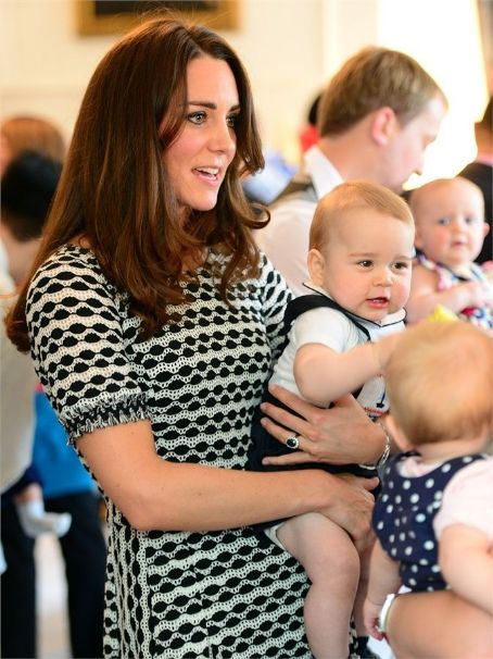 Prince George of Cambridge Kate Middleton, Prince William Windsor in New Zealand - April 9, 2014