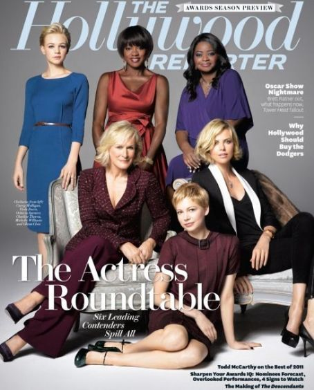 Carey Mulligan, Viola Davis, Octavia Spencer, Charlize Theron, Michelle Williams, Glenn Close - The Hollywood Reporter Magazine Cover [United States] (18 November 2011)