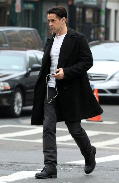 "Colin Farrell on the Set of ""Winter's Tale"""